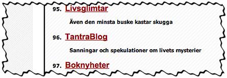 Blogglistning