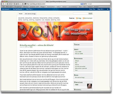 YONI - en blogg om sex ochsamlevnad