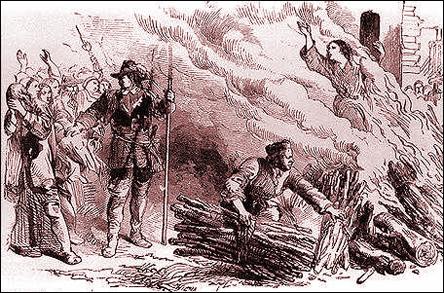 Bränning av kättare