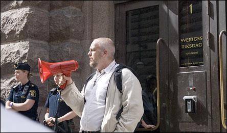 Demonstration mot FRA