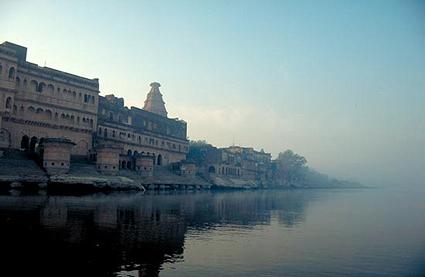 Kesi Ghat, en av de vackraste platserna i Vrindavan