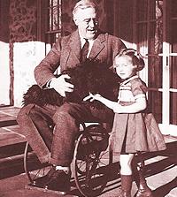 Franklin Delano Roosevelt i rullstol - skulle han ha gått med på Socialstyrelsens krav?