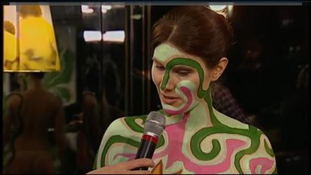 Kroppsmålning i Förkväll, på TV 4