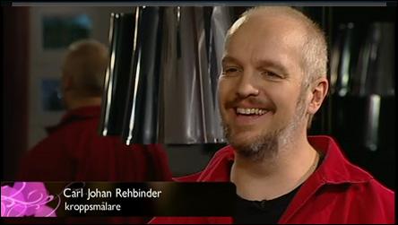 Kroppsmålning i Förkväll på TV 4