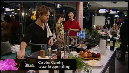 Kroppsmålning på Förkväll i TV 4