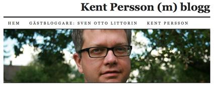 Kent Persson - moderat politiker och bloggare med piratpositiv inställning