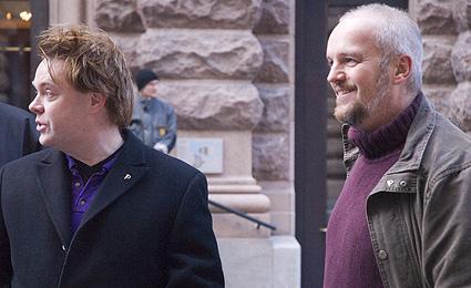 Rick och jag utanför Riksdagshuset. I höst sitter vi inne i huset – om du vill det...