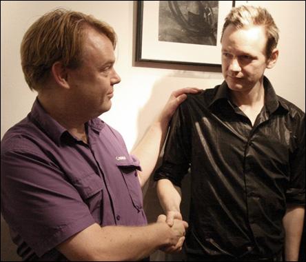 Rick Falkvinge och Julian Assange