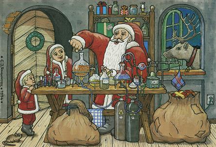 Jultomten i kemilabbet