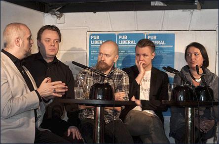 Panelen på Pub Liberal den 16 mars 2011