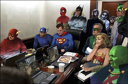 Superheroes in the situation room