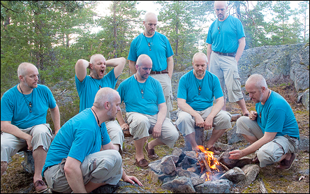 Calle gånger 8 vid en lägereld