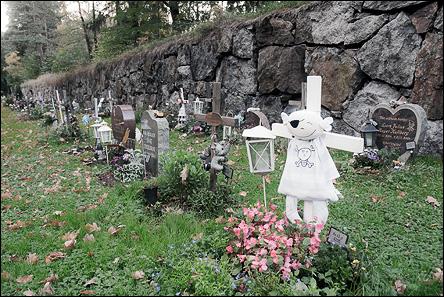 Barngravar på Skogskyrkogården