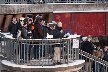 Demonstration mot ACTA på Sergels Torg den 4 februari 2012
