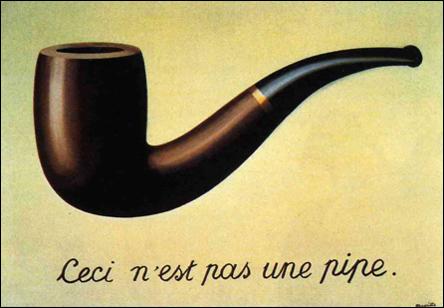 Ceci n'est pas une pipe - av Magritte