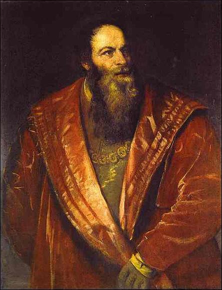 Pietro Aretino av Titian