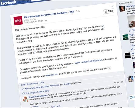RNS på Facebook