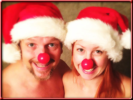 Calle & Jennie som jultomtar