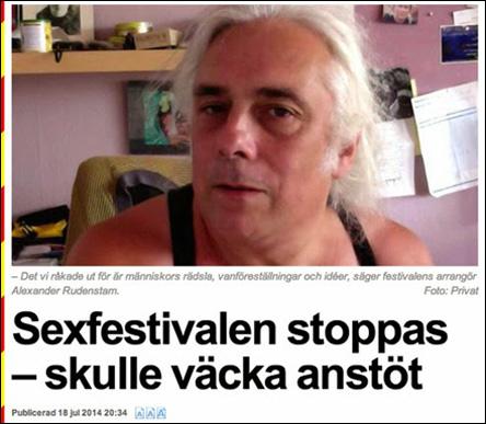 Sexfestival stoppas av lokaluthyrare