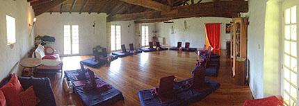 Salle de jeu - kurslokalen på Chateau Garreau