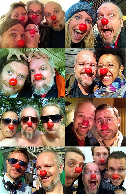 Clownnäseselfies