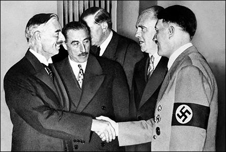 Neville Chamberlain och Adolf Hitler