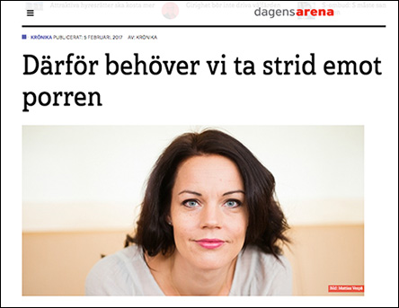 Veronica Palm om porr