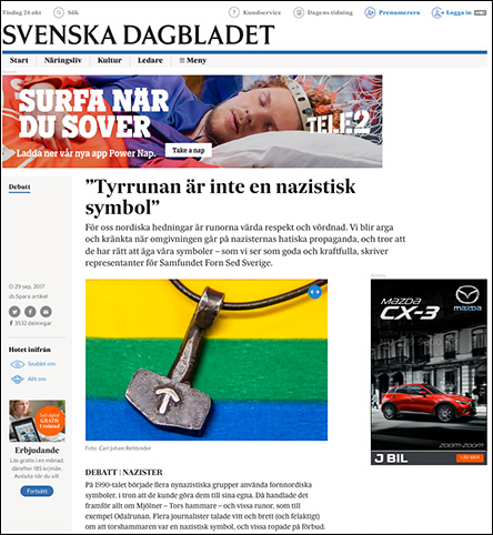 SvD september 2017 om Tyrrunan